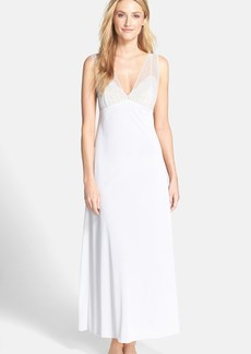 Natori 'Boudoir' Lace & Mesh Trim Long Nightgown