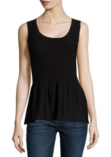 Natori Casama Sleeveless Peplum Sweater  Casama Sleeveless Peplum Sweater