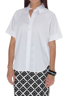 Natori Cotton Shirting Top - Short Sleeve (For Women)