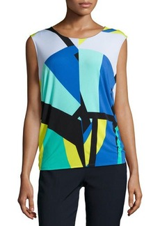 Natori Dao Geo-Printed Sleeveless Top