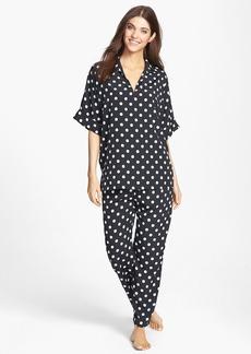 Natori 'Dots' Crêpe de Chine Pajamas