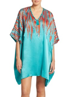 Natori Embellished Silk Tunic