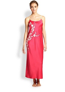 Natori Embroidered Charm Long Gown