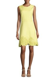 Natori Embroidered-Hem Spring Dress