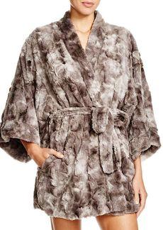 Natori Faux Fur Kimona Robe