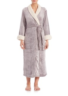 Natori Faux Shearling-Trimmed Robe