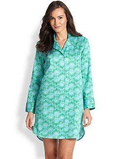 Natori Fleur Printed Cotton Sleepshirt