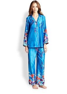 Natori Floral Print Charmeuse Pajamas