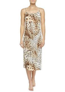 Natori Gabon Leopard-Print Jersey Gown