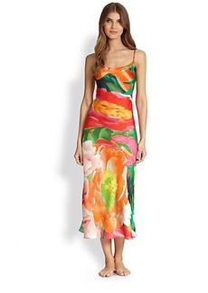 Natori Garbo Floral-Print Gown