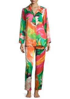 Natori Garbo Floral-Printed Pajama Set, Multicolor, Women's