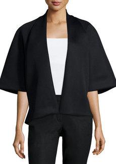 Natori Half-Sleeve Open-Front Jacket
