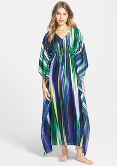 Natori 'Hayworth' Satin Georgette Caftan