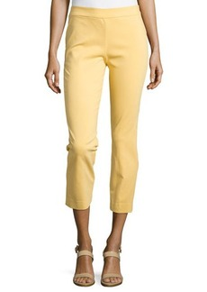 Natori Imperial Slim Ankle Pants, Sunshine