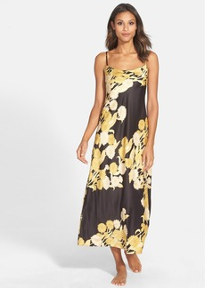 Natori 'Irina' Flower Print Charmeuse Nightgown