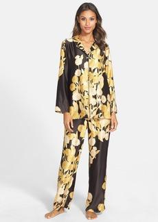 Natori 'Irina' Flower Print Charmeuse Pajamas
