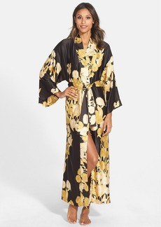 Natori 'Irina' Flower Print Charmeuse Robe