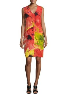 Natori Island Floral Sleeveless Dress