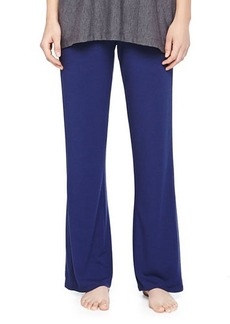 Natori Jersey Drawstring Wide-Leg Pants, Deep Sea