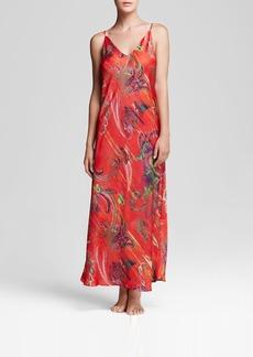 Natori Katerina Silky Satin Printed Gown