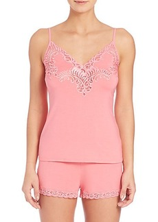 Natori Lace-Detail Jersey Short Pajamas