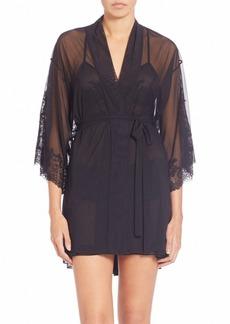 Natori Lace-Trimmed Wrap Robe