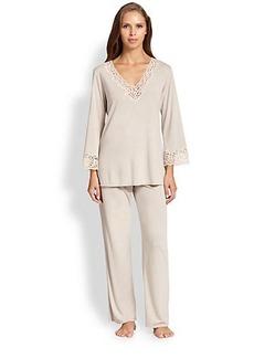 Natori Lhasa Lace-Trimmed Pajamas