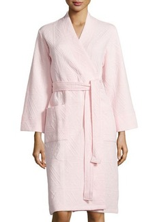 Natori Long-Sleeve Jacquard Robe