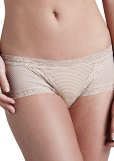 Natori Mod Retro Lace-Trim Briefs, Cafe