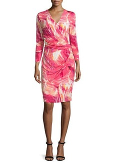 Natori Motion Picture Faux-Wrap Dress