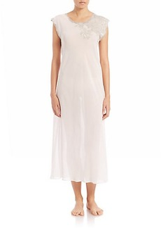 Natori Muse Lace-Detail Gown