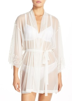 Natori 'Ophelia' Sheer Mesh Short Robe
