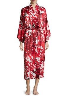 Natori Ottoman Floral-Printed Long Robe
