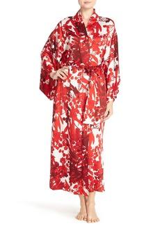 Natori 'Ottoman' Print Charmeuse Robe