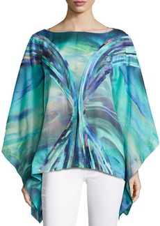 Natori Printed Cotton Voile Top