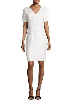 Natori Raffia V-Neck Dress
