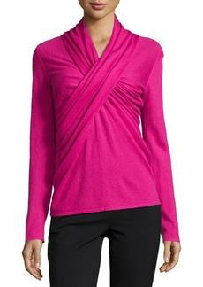 Natori Riza Crisscross-Front Sweater