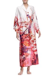 Natori Rococo Multi-Print Long-Sleeve Wrap Robe