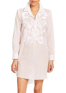 Natori Sahara Embroidered Cotton Sateen Sleepshirt