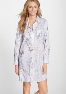 Natori 'Sakuri' Print Cotton Voile Sleep Shirt