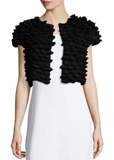 Natori Short-Sleeve Textured Jacket