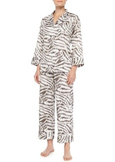 Natori Sierra Animal-Print Poplin Pajama Set, Gingerbread