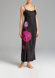 Natori Silky Charm Embroidered Gown