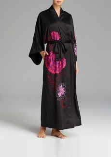 Natori Silky Charm Embroidered Robe