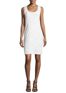 Natori Sleeveless 3D-Lace Sheath Dress