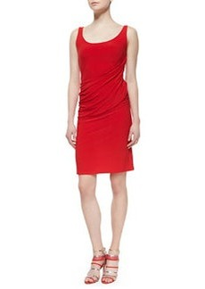 Natori Sleeveless Draped Jersey Dress, Chili