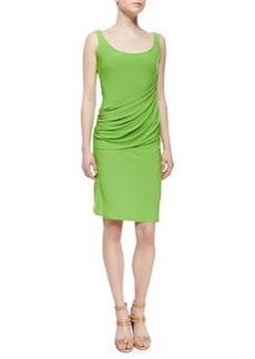 Natori Sleeveless Draped Jersey Dress, Rainforest