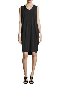 Natori Sleeveless Draped Shift Dress