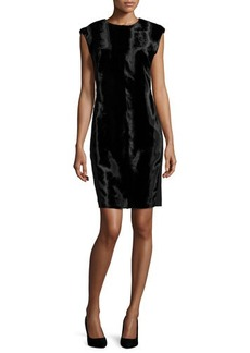 Natori Sleeveless Pony-Velvet Dress