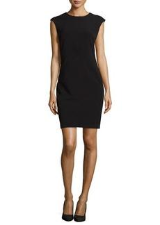 Natori Sleeveless Woven Bistretch Dress, Black